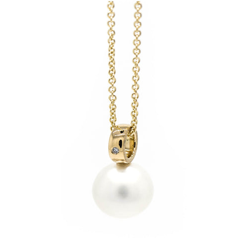 18kt Yellow Gold Pearl Pendant ,[product vendor],JewelStreet