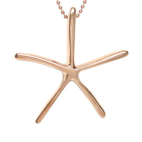 18kt Rose Gold Vermeil Starfish Necklace