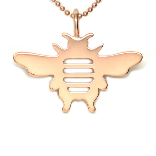 18kt Rose Gold Vermeil Whitney Bee Necklace
