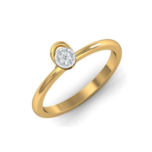 18kt Yellow Gold Pave 0.04ct Diamond Infinity Ring III