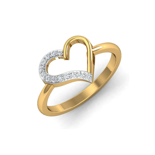 18kt Yellow Gold Pave 0.13ct Diamond Infinity Ring
