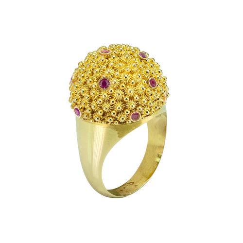 Mora Cupola Ruby Ring