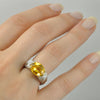 Golden Beryl Ring White Gold-Alex Gulko Custom Jewelry-JewelStreet US