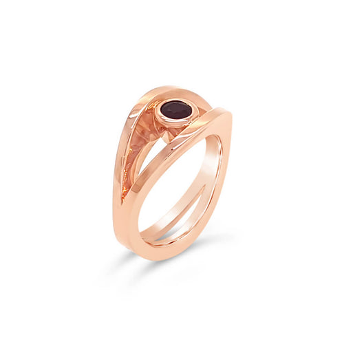 18kt Rose Gold Reflections Ring ,[product vendor],JewelStreet