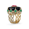 18kt Yellow Gold Royal Ring-Erica Courtney-JewelStreet US