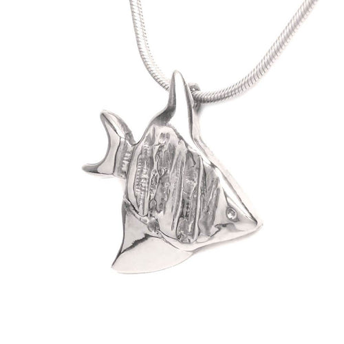 Sterling Silver Divine Angelfish Necklace