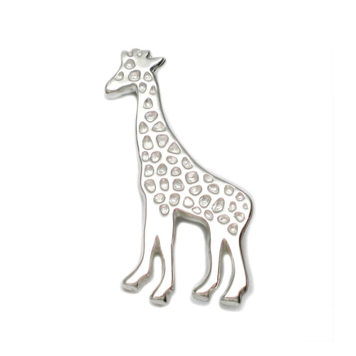 Sterling Silver Grand Giraffe Lapel Pin Brooch