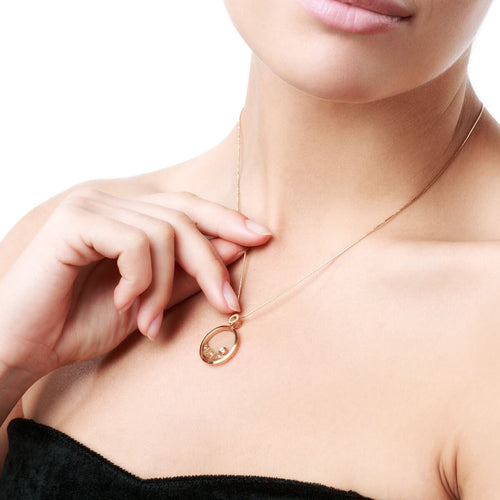 Gold & Diamond Secret Moon Pendant | Chekotin Jewellery
