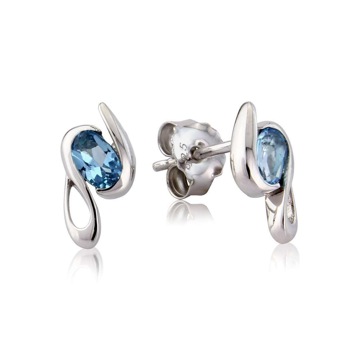 Melody Blue Topaz Earrings-So Jewellery-JewelStreet US