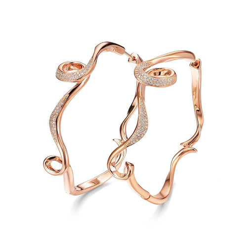 18kt Rose Gold Plated Serenity Large Hoop Earrings