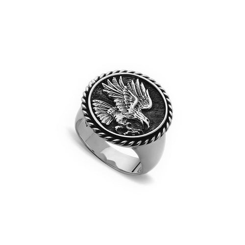 Signet Coin Eagle Ring