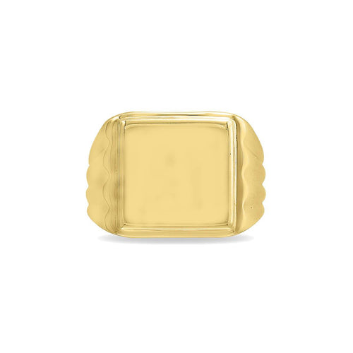 Square Wings Signet Ring
