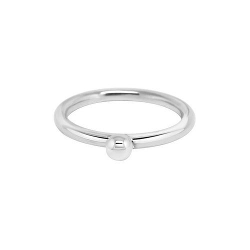 Sterling Silver Small Silver Splash Ring