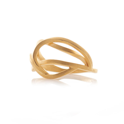 Yellow Gold Plated Small Tangled Ring ,[product vendor],JewelStreet