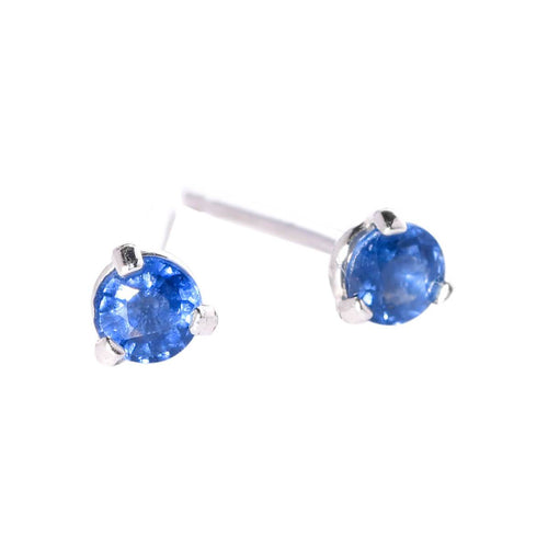 Sapphire Stud Earrings in Sterling Silver