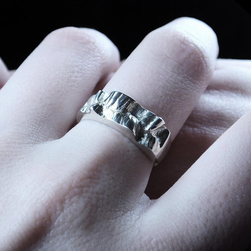 Sterling Silver Sea In The Moonlight Ring ,[product vendor],JewelStreet