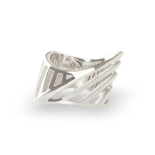 Sterling Silver Cut-Out Sharch Ring ,[product vendor],JewelStreet