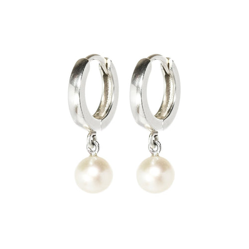 Silver & Pearl Drop Earrings