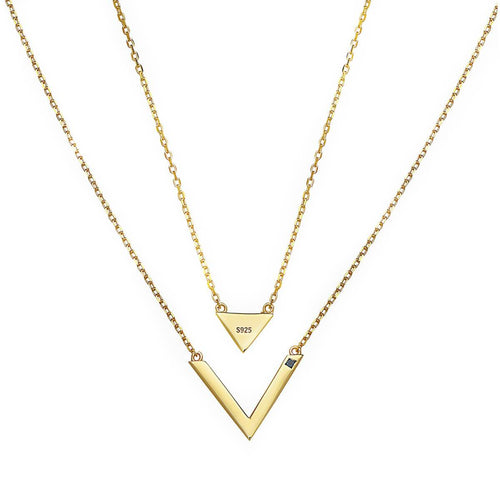Triangle V Yellow Necklace