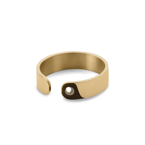 Duo Ring in Shiny Yellow Gold Plated-EKRIA-JewelStreet US
