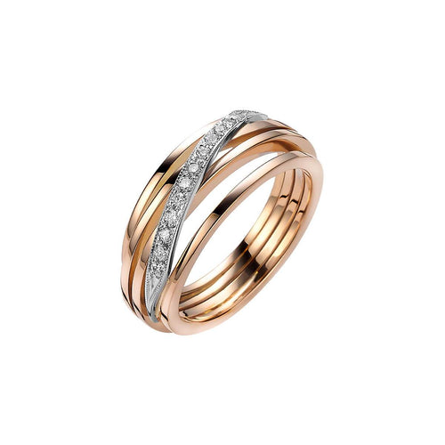 Rose Gold & Diamond Ferns Ring | Van der Veken