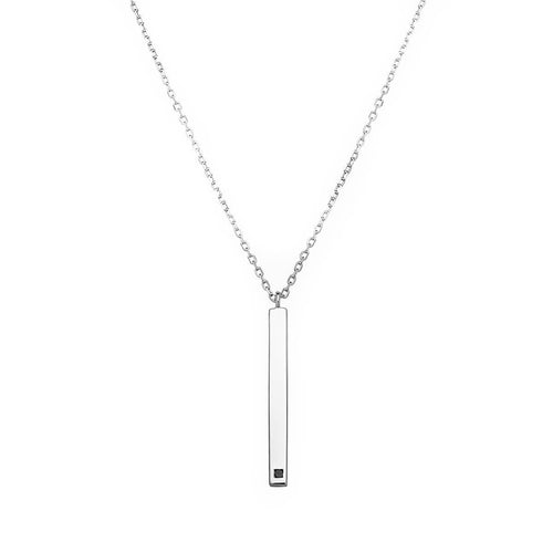 Vertical Linear White Necklace