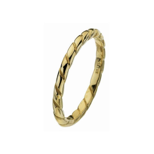 Gold Rope Ring-Virtue London-JewelStreet US