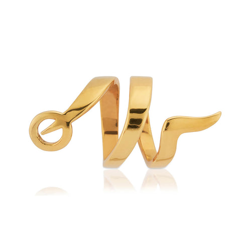 Yellow Gold Vermeil Snaketric Ring ,[product vendor],JewelStreet