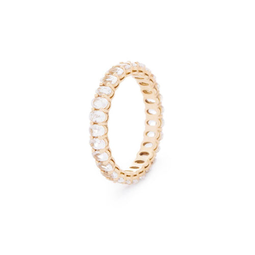 Signature Oval White Eternity Ring