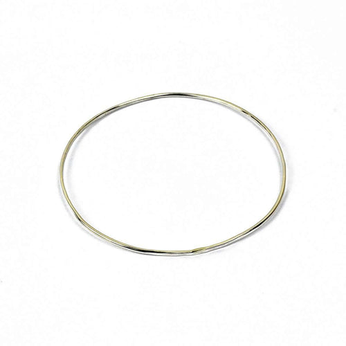 Wave Silver Single Bangle-FRAN REGAN JEWELLERY-JewelStreet US