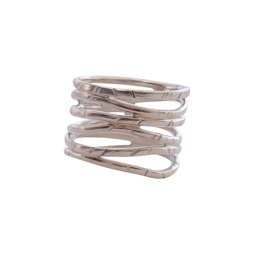 Sterling Silver Wave Ring ,[product vendor],JewelStreet