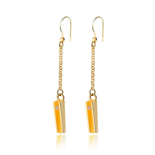 Gold Vermeil Willow Earrings With Marmalade Resin ,[product vendor],JewelStreet