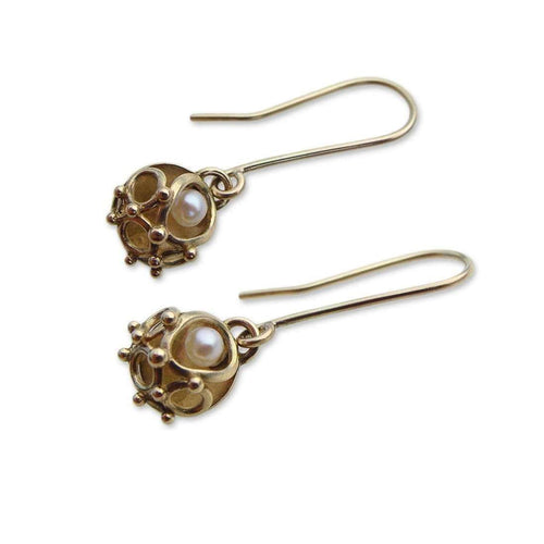 9kt Gold Annulars Drop Earrings - 10mm-Zalisander-JewelStreet US