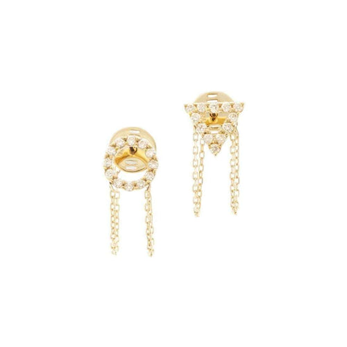April Diamond Earrings-Gisele for Eshvi-JewelStreet US