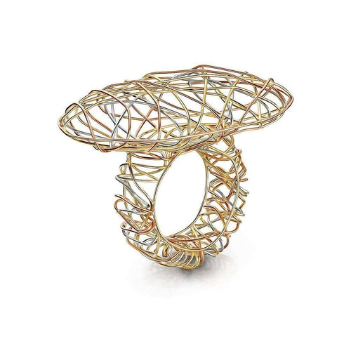 Air Nest Tri Gold Ring-Goldneilson-JewelStreet US