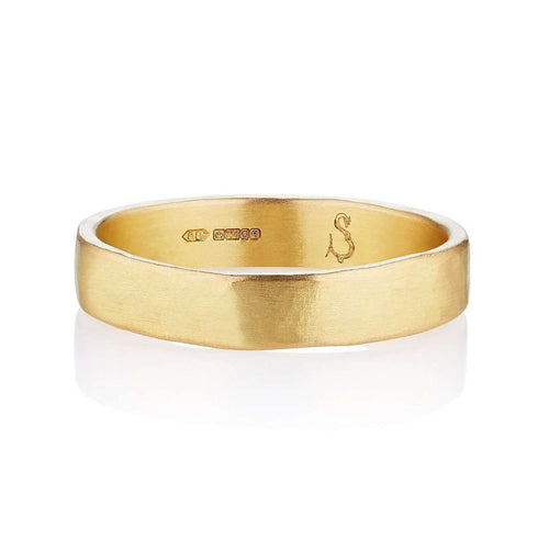 18kt Fairtrade Aria Wedding Band-Shakti Ellenwood-JewelStreet US