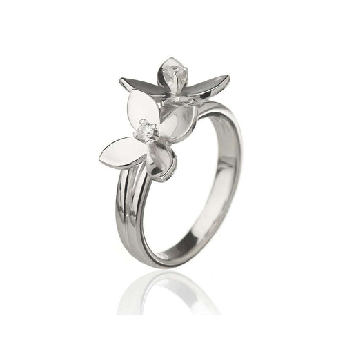 Forget Me Not Double Flower Ring-Asa Iceland-JewelStreet US