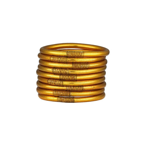 All Weather Serenity Gold Bangles-BuDhaGirl-JewelStreet US