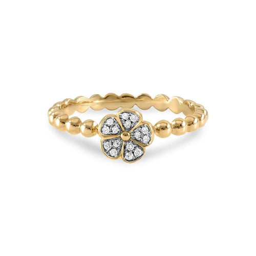 Laura Yellow Gold Diamond Ring-Estenza-JewelStreet US