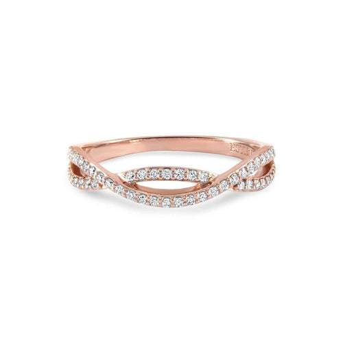 Lola Rose Gold Diamond Stacking Ring-Estenza-JewelStreet US