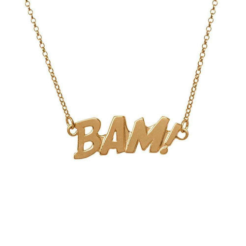 BAM Letters Necklace Large Gold-Edge Only-JewelStreet US