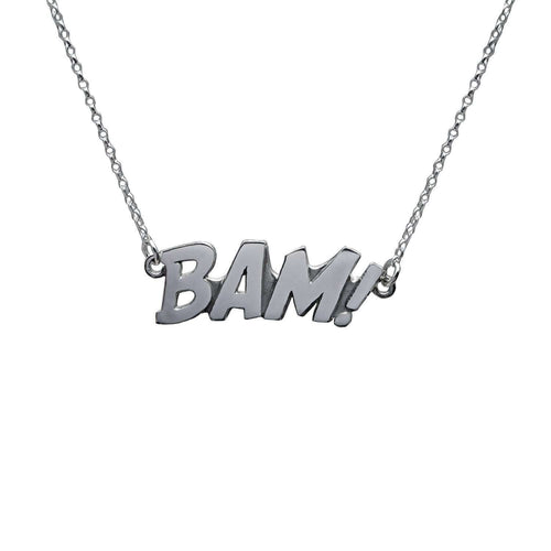 BAM Letters Necklace Large-Edge Only-JewelStreet US