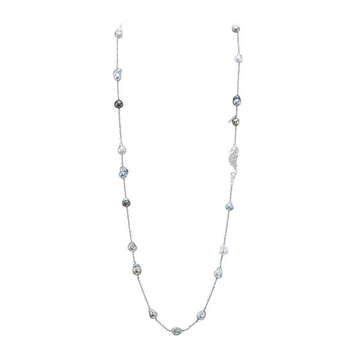 Baroque Tahitian Cultured Pearl Necklace-LJD Designs-JewelStreet US