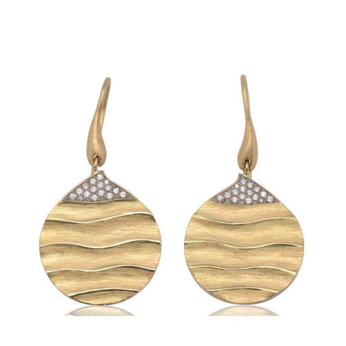 Careless Rhythm Diamond Earrings-Biiju-JewelStreet US