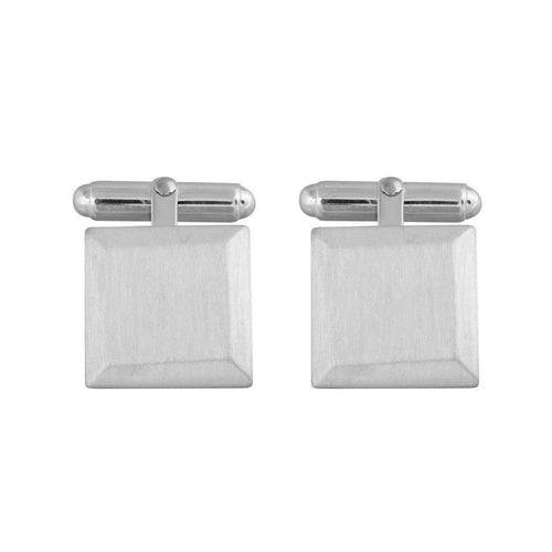 Bevelled Square Cufflinks-Edge Only-JewelStreet US