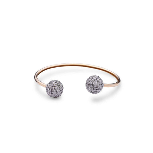 Gold and Diamond Sphere Bangle-Socheec-JewelStreet US