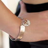 Sterling Silver & 9ct Gold Biker Bangle