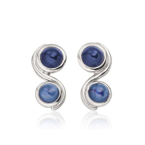 Blue Infinity earrings-Justin Richardson-JewelStreet US