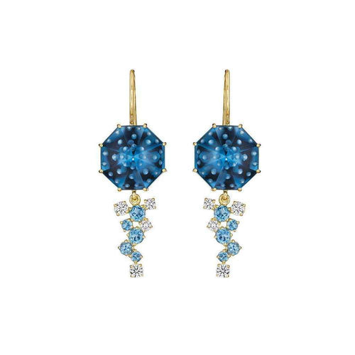 Blue Topaz Bubble Ice Earrings-Madstone Design-JewelStreet US