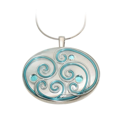 Bluebird Mother of Pearl Pendant-AVA Goldworks-JewelStreet US